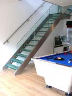Bespoke stainless steel and glass staircase