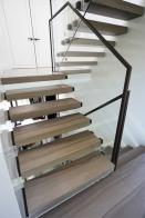 3 flight cantilevered filleto marble stone stairs 